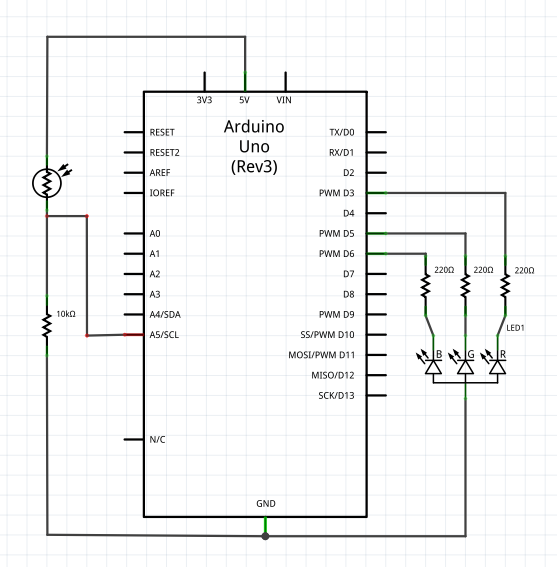 arduino crossfading nightlight